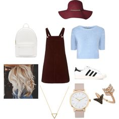 Untitled #2 by abby-ang on Polyvore featuring polyvore, fashion, style, Topshop, Glamorous, adidas, PB 0110, Bee Goddess, The Horse and Wanderlust + Co