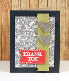 Embossed Vellum Card by Kristina Werner, kwernerdesign.com