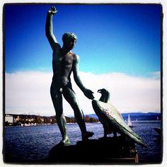 Zurich, Statue Of Liberty, Switzerland, Travel, Beautiful, Statue Of Liberty Facts, Viajes, Trips, Traveling