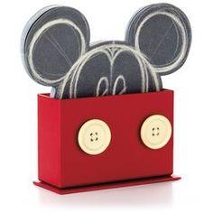 Disney Mickey Mouse Chalkboard Sheet Caddy, soooo cute!  Gotta love Hallmark!