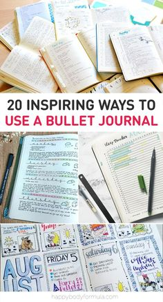 """The bullet journal is described as """"the analog system for the digital age"""" and its popularity is spreading like wildfire. We're going to show you why and how you can use bullet journaling to create a more organised, fulfilling life. Bullet Journal How To Start A, Bullet Journal Inspo, Bullet Journal Layout, Bullet Journal Ideas Pages, Journal Prompts, Journal Pages, Bullet Journals, Planner Stickers, Planner Pages"""