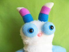 super cute pastel plush monster :)