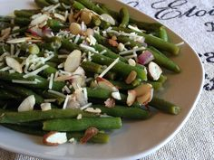 Green Beans with Warm Dijon Vinaigrette - a jazzed up version of plain green beans!