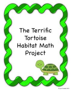 There is so much to love about this FREE project. First, it is totally appealing to kids - who doesn't love turtles? Second, kids get to apply math in a real world situation. Third, it covers several math standards. Awesome!