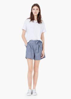 Karierte shorts   MANGO