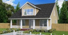 Cape Cod Country House Plan 61403