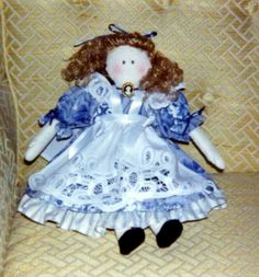 Doll in Blue - Made this for a co-worker. - 1991