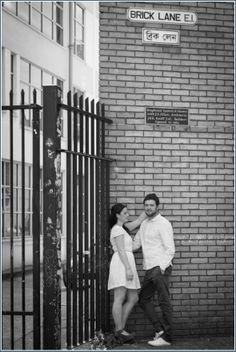 Black and white brick photography - prewedding photo shoot