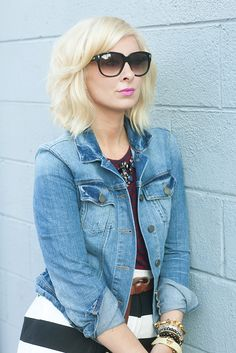 Looking for a new hair cut? Chop off your hair for an adorable short bob style.
