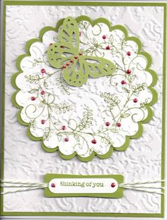 Sweet Summer Butterfly Wreath by Rita Cottrell - Cards and Paper Crafts at Splitcoaststampers