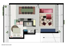 View the full picture gallery of Ester's Apartment Le Corbusier, Terrazzo, Gallery Wall, Floor Plans, Flooring, How To Plan, Projects, Pictures, Home Decor