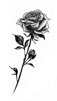 Rose With Stem Tattoo, Rose Tattoo Foot, Rose Drawing Tattoo, Single Rose Tattoos, Weird Tattoos, Body Art Tattoos, Tatoos, Sun Tattoo Small, Small Tattoos