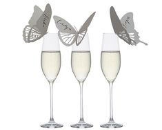 Butterfly Place Cards whimsical neutral escort by TimelessPaper