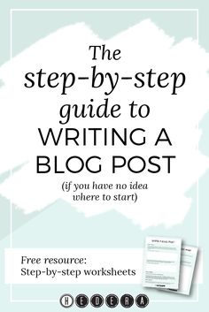 Part of the Step-by-step writing guidesseries  Business owners know by now that they should be blogging to promote their  business and share their knowledge with their audience. And yet, I so often  hear that they're not blogging. I hear that:      * they would if they had any idea how to write blog posts     * they have lots of ideas but just can't get them down coherently on       paper     * they have no idea what to write about, and don't you run out of       topics eventually?  Sound…