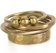 Stacker rings.