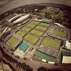 Tour the Wimbledon grounds, Wimbledon AELTC Club, England. All England Lawn-Tennis & Croquet Club