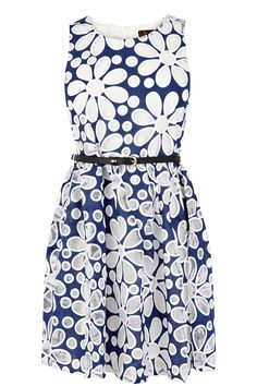 Belted Prom Dress | Blue | Oasis Stores