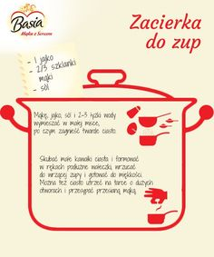 Zacierka do zup Cooking Tips, Cooking Recipes, Snack Recipes, Healthy Recipes, Polish Recipes, Soups And Stews, Pasta Dishes, Holiday Recipes, Clean Eating
