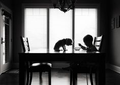 The Breakfast Club by Karen Osdieck, USA. Black and White Child Photography Contest 2015 Winners