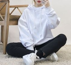 Black hoodie outfit · รูปภาพ fashion, girl, and kfashion more korean fashion school, Korean Fashion Trends, Korean Street Fashion, Asian Fashion, Girl Fashion, Fashion Outfits, Style Fashion, Fashion Ideas, Fashion Styles, Fasion