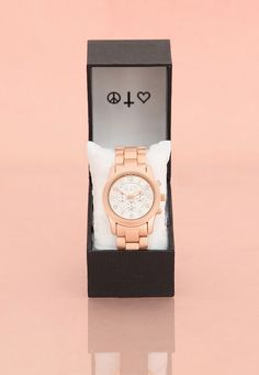Mia Chronograph Watch In Rose Gold