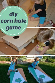 Here's a DIY project so simple that the kids can help out. An adult will need to make a few cuts and supervise. This is a great way to help kids learn basic woodworking skills—and make their own DIY corn hole game in the process.