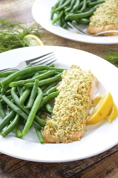Just 7 ingredients are required in this healthy almond crusted salmon! It comes together quick, so it's perfect for busy weeknights!