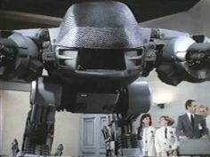 """""""I'm sure it's only a glitch"""" Ed 209 from  ROBOCOP"""