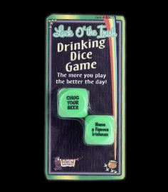 FN60077 - Blacklight Reactive Drinking Dice Game