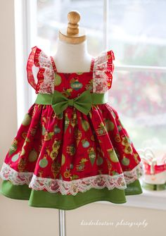 Our Christmas Girls Vintage Fairytale handmade dress is perfect for the holiday…