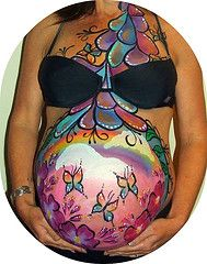 A beautiful belly paint