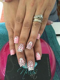 Acrylic Nails, Nails art, rabbit nails, pink Nails
