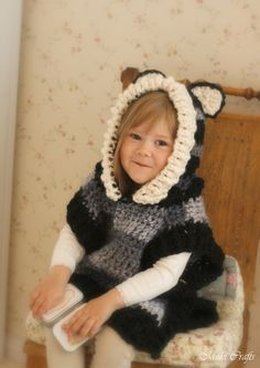 CROCHET PATTERN fox wolf hooded chunky poncho Max (toddler/child/ adult  sizes) by MukiCrafts on Etsy https://www.etsy.com/listing/242477854/crochet-pattern-fox-wolf-hooded-chunky