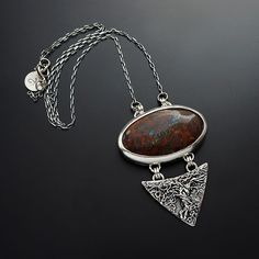 Silver Pendant With Boulder Opal  - product images  of SCHJ www.silverchamber.co.uk