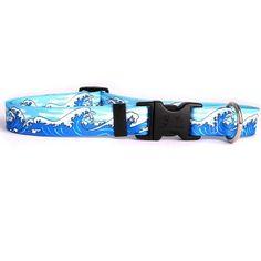 Mystic Waves Blue Standard Collar