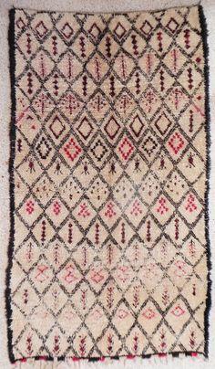 BO10535 natural virgin wool carpet BENI OUARAIN berber rug from Morocco
