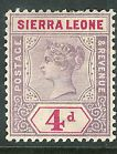 Sierra Leone 1896 dull-mauve/carmine 4d mint SG47 - http://stamps.goshoppins.com/commonwealth-british-colonial-stamps/sierra-leone-1896-dull-mauvecarmine-4d-mint-sg47/