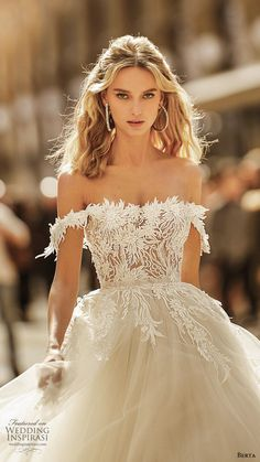 "Berta Spring 2020 Wedding Dresses — ""Milano"" Bridal Collection - berta spring 2020 bridal off shoulder semi sweetheart embellished bodice a line ball gown princess romantic chapel train zv — Berta Spring 2020 Wedding Dresses Classic Wedding Dress, Fall Wedding Dresses, Boho Wedding Dress, Bridal Dresses, Elegant Wedding, Summer Wedding, Before Wedding, Bridal Collection, The Dress"