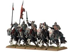 Chevaliers Noirs / Émissaires d'Outre-tombe Warhammer Vampire Counts, Warhammer Fantasy, Fantasy Characters, Wonders Of The World, Outre, War Hammer, Knights, Black, Tabletop