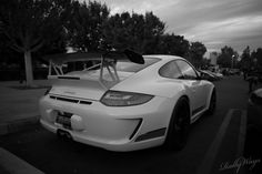 Porsche 911 GT3 RS in Black and White at Cars & Coffee. #porsche911gt3rs #gt3rs
