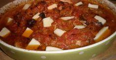 Εξαιρετική συνταγή για Μεζές με λουκάνικο. Λίγα μυστικά ακόμα Αν σας αρέσουν οι πικάντικες γεύσεις χρησιμοποιήστε χωριάτικα λουκάνικα Chili, Salsa, Soup, Mexican, Ethnic Recipes, Chile, Salsa Music, Soups, Chilis
