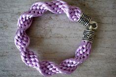 Purple Spiral Bracelet Braided Cord Bracelet 12 by fanfarria