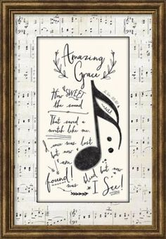 Vintage Jewelry Art Amazing Grace Framed Textual Art - From the Praise Hymn collection. A noteworthy design with lyrics from a favorite hymn. Sheet Music Crafts, Sheet Music Art, Piano Crafts, Hymn Art, Bible Art, Frame Crafts, Book Crafts, Faith Crafts, Vintage Jewelry Crafts