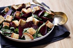 Roasted Beet Salad with Garlic Butter Croutons | Udi's® Gluten Free Bread