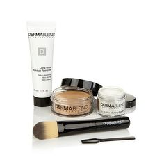 Shop Dermablend Cover Creme 4-piece Kit with Foundation Brush, read customer reviews and more at HSN.com.