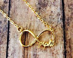Pi Beta Phi Letter Necklace by LetteredCo on Etsy