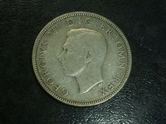 EN.aug 1943 TWO Shillings silver coin  condition used nr297 Silver Coins, Personalized Items, Silver Quarters
