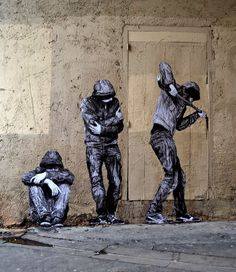 Charles Leval better known as Levalet is back on the streets of Paris in France.