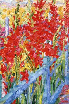 bofransson:  Irises Emil Nolde - 1907 (I don't think it's Iris, Probably Gladiolus)