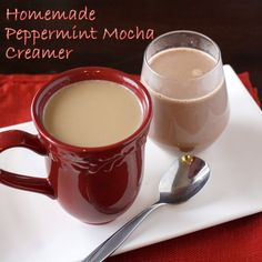 Homemade Peppermint Mocha Creamer.